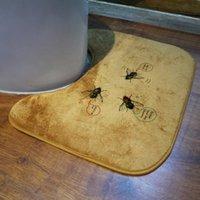 Wholesale Bathroom mat bath rug set Home Furnishing toilet mat mixed batch coral fleece material non slip cm