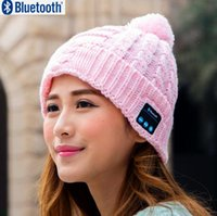 Bluetooth Headset apple magic - New Arrival Bluetooth beanie Hat Cap Knitted Winter Magic Hands free Music mp3 Hat for Woman Men Sports Smartphones