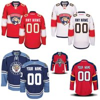 Wholesale Customized Men s Florida Panthers Jerseys Authentic personalized Cheap Hockey Jerseys Any Number Name Embroidery Logos size S XL