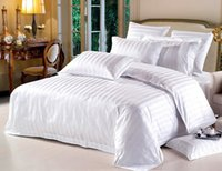 Wholesale Riho Piece High density Cotton Hotel White Bedding Sets Bed Sheets Cover Sheet Pillowcases