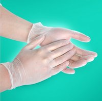 Wholesale Disposable PVC gloves manufacturers supply food grade transparent dental medical beauty hand anti static catering oil film