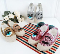 Wholesale Korean Flats Boots - Kids Casual Shoes Girls Sneakers Sequin Eyes Loafer Shoes Spring Autumn children Sneaker Flat Shoe Fashion Korean Kids Baby Travel Boot Size