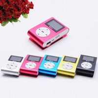 Wholesale New LCD Screen Mini Clip Mp3 Player Electronic Sports Metal Mini MP3 Music Player Support GB Micro SD TF Card