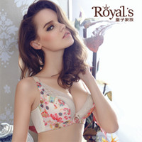 Wholesale Royal s Ladies underwear deep V water drop cup bra sexy bra bra size C B cup