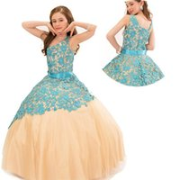 beauty pageant dresses for kids - Toddler Beauty Junior Pageant Dresses For Little Girls Kids Pageant Gowns Peach Color Flower Girl Dresses Puffy
