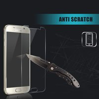 al por mayor nota 2 galaxia delgada-Protector de la pantalla de cristal templado cubierto de hd ultrafino de la pantalla para la galaxia de Samsung NOTA2 / NOTE3 / NOTE4 / NOTE5 / NOTE6 / NOTE7
