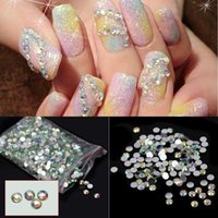 beads nail decor - Crystal Flatback Nail Art Stickers Round Resin Beads Phone Decor Craft