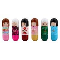 Wholesale pc Lovely Kimono doll Brand Makeup Lipstick Women Beauty Professional Cosmetic Lipstick Makeup lipgloss Fashion