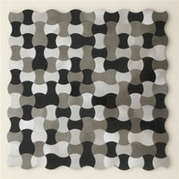 Wholesale NEW STYLE Metal mosaic tiles high quality tiles for wall kitchen backsplash tiles Self adhesive mosaic LSALS03