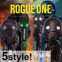 ballpoint pen art - Star Wars Rogue One Multi Function Pens K SO Deathtrooper BB R2 D2 electric Ballpoint pens With sound and light The head can be rotated