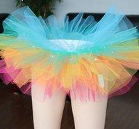 adult rainbow tutus - Hot Sexy Women LED Light Up Neon Fancy Rainbow Tutu Fancy Halloween Costume Adult Skirt TFS Corset Mini Tutu Skirt