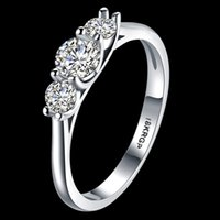 Wholesale 2017 New Wedding Ring For Women Vintage kt White Gold Filled With Inlay AAA CZ Simulated Diamond His Girlfriend Gift