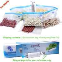 battery vacuum pump - High Quality Food Vacuum bags for Food Storage With Hand Pump Reusable Vacuum Sealer Food Packages Kitchen Organizer