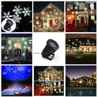 Wholesale New Waterproof Moving Snow Laser Projector Lamps Snowflake LED Stage Light For Christmas Party Landscape Light Garden Lamp Outdoor free