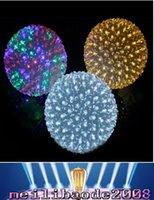 Освещение праздника 10CM 50LEDs Красочный цветок мяч Водонепроницаемый Свет Фея Garland Декор Лампы Открытый Рождественские украшения СИД MYY