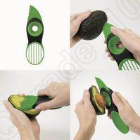 Wholesale Hot in Avocado Slicer Corer Plastic Fruit Pitter Durable Blade Good Splitters Creative Kitchen Gadgets OOA1211