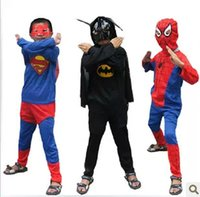 batman movie costume - Lovely Kids Costumes Spiderman Superman Batman Zorro Sets Halloween Cosplay Stage Perform Zental Cosplay Clothes Party Props MC0105