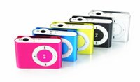 Wholesale Christmas Gift Colorful Mini Clip MP3 Player Music player Support Micro SD Card TF Slot Earphone USB Cable with gift box