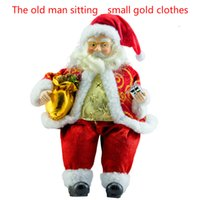 baby christmas tree ornaments - new top selling high quality large size cm small cm Christmas toy baby sitting on Santa Claus statue of the family room