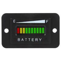 Wholesale 12 V V V Three color Bar LED Car Battery Indicator Meter Charge Indicator Battery Diagnostic CEC_501
