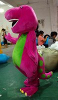 best movie props - 2016 Best price New Barney Mascot Costume Halloween Christmas Birthday Props Costumes For Adult Kids Factory direct