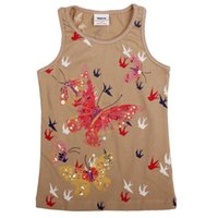 Wholesale Girl s new arriva Christmas l cute vest round neck for kids England style printing and animal brown lonely summer chirlden day s