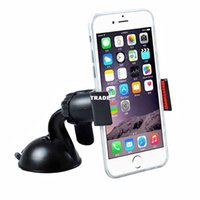 Wholesale Universal degree spin Car Windshield Mount cell mobile phone Holder Bracket stands for iPhone5 S samsung Smartphone GPS