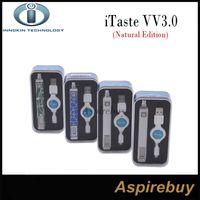 al por mayor cortocircuitos vw-Liquidación 100% Original Innokin iTaste VV3.0 Natural Edition 3.3V-5.0V VV / VW Ajustable 800mah batería Cortocircuito LED indicador