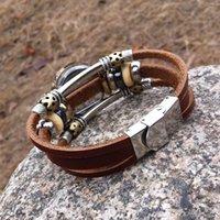 achat en gros de bracelet en cuir de trèfle gros-Montre Femmes élégant bracelet en cuir Bracelet strass montre étudiant Clover Quartz Montre en gros Lady et Girl