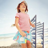 Skirt animal print robes - Girls Skirts Pure Cotton Summer Robe Fille Enfant Tutu Skirt Kids Clothes Character Print Children Pettiskirt