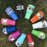 Wholesale 11colors YETI CUPS OZ Yeti Rambler Coolers Tumbler Stainless Steel Cup Coffee Mug w Lid