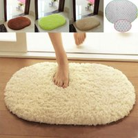 Wholesale New Solid Plush Velvet Anti slip Bath Mat Washable Absorbent Bathroom Floor Mat Door Mat