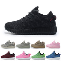 b patterns - Kids yezzy shoes boost for Boy Shoes Comfortable Round Toe Running Shoes for Women Appliques Pattern Lace Up Closure