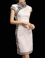 Casual Dresses asian qipao - Chinese Cheongsam Qipao Gown Vintage Cocktail Dress Asian Fashion Chic