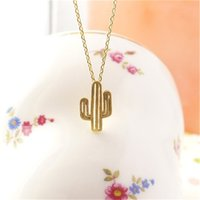best deserts - trendy minimalist cute girls Charm Jewelry Desert Plant Cactus Pendant Necklace Best christmas gifts for women