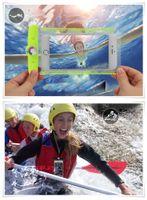 al por mayor caso del iphone de la prueba del agua transparente-Nuevo universal impermeable bolsa seca bolsa de agua transparente transparente prueba de teléfono móvil caso para Iphone 6