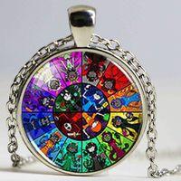 best sliding wheels - Steampunk New Homestuck God Wheel Game Comic Necklace Pendant Charm Jewelry Cosplay Anime Women Men Chain best friends Gift