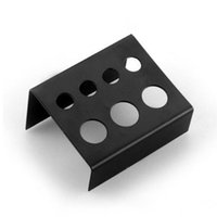 Wholesale New Black Stainless Steel Tattoo Ink Cup Cap Holder Stand Holes Supply High Quality
