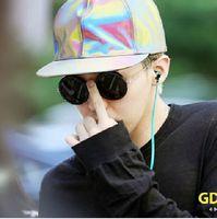 Wholesale chic Neon color changing GD laser Snapback Hats fashion patchwork Korean BF Visors self portrait