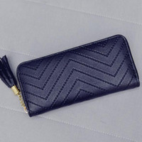 Wholesale Brand New Women Lady Leather Card Holder Long Wallet Clutch Checkbook Tassel Handbag Purse BGE0004