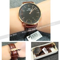 Wholesale 40mm Black Face Men Watches Waterproof Genuine Leather Quartz Watch Leather Box Manual Tag Tool Relogio Masculino Relojes Hombre