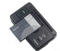 Cargador inteligente universal de la batería del indicador del LCD de la alta calidad para Samsung GALAXY S4 I9500 S3 I9300 NOTA 3 S5 con la carga de la salida del usb US La UE