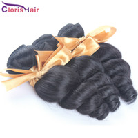 achat en gros de cheveux ondulés malaisiens-Bouncy Curly Raw Brésilien Peruvian Malaysian Indian Loose Wave Hair Extensions Cheap Loose Curl Virgin Human Hair Weaves 3 Bundles Deal
