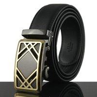 Wholesale Sales promotion Cheetah automatic buckle leather belts Fashion men belt cowhide belts for men