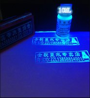 Wholesale Transparent UV Reactive Blacklight Paint invisible Under daylight but glow under UV light ink for Skin paper etc