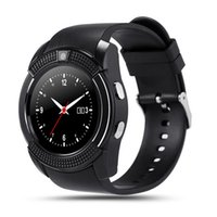 Montre de fitness de santé à puce Prix-Bluetooth Smartwatch V8 Montre Smart Montre MTK6261D SIM TFCard Smart Moniteur de santé pour téléphone cellulaire Smart Electronics Appareil photo