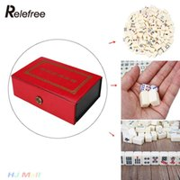 antique board games - Mini Mahjong Set Board Games Travel Mahjong Tiles Table Chinese Traditional Antique Funny Home Games with Box Portable