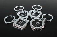 al por mayor llavero marcos de fotos al por mayor-Regalo de viaje de Corea del amante del estilo DIY marco de la foto Keychain Accesorios de moda del bolso de la geometría llaveros 100pcs al por mayor