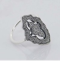 Wholesale Compatible with European Jewelry Sparkling lace Silver Ring New Original Authentic Sterling Silver Ring DIY Making