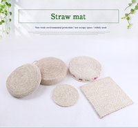 antique carpet - Grass Round Square Bring Hold Cushion Pure Botany Cushion Manual Weave Straw Plaited Article Arts And Crafts Portable Cushion